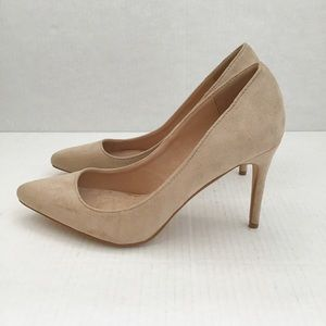 Bella Marie Light Taupe Suede Pointy High Heel